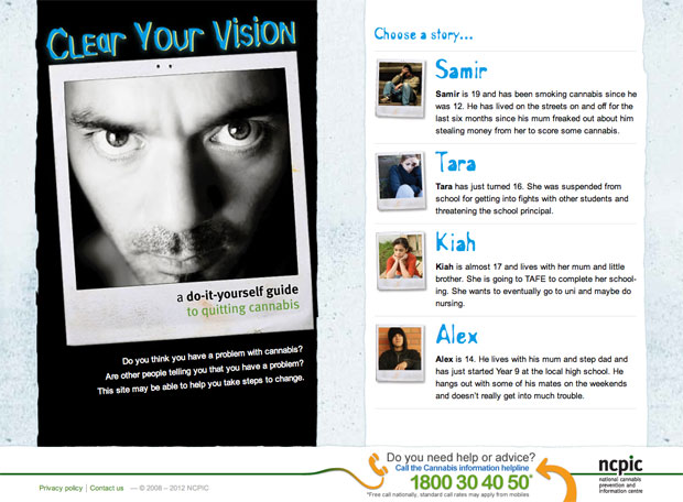 Clear Your Vision homepage screenshot